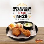 Kenny Rogers ROASTERS Offer Two Is Better Than One Deals! 一套OMG Chicken,只要RM14优惠!