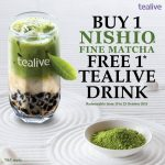 Tealive Offer Free Drink worth RM6.50!优惠请你喝饮料!