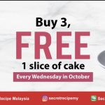 Secret Recipe Offer FREE 1 Slice of Cake! 优惠请你吃一片蛋糕!