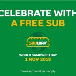 Subway Buy 1 Free 1 Deal! Subway三文治买一送一优惠促销!