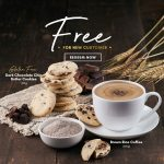 FREE Brown Rice Coffee + FREE Chocolate Chip Butter Cookie Giveaway!免费糙米咖啡+黑巧克力黄油饼干!
