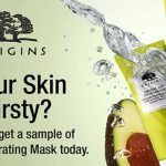 FREE Origins NEW Drink Up Hydrating Masks Sample Giveaway! 免费护肤面膜试用样品!