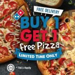 Dominos Pizza Buy 1 FREE 1 Deal Is Back! 比萨买一送一优惠!