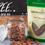 FREE  Freshly Roasted Almond with Glass Jar Giveaway! 请你吃免费烤杏仁与玻璃罐!