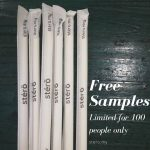 FREE Stérö Biodegradable Wrapped Paper Straws Giveaway! 免费可化解纸吸管样品!