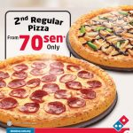 Domino's Offer RM0.70 Regular Pizza deal! 比萨,只要RM0.70而已!