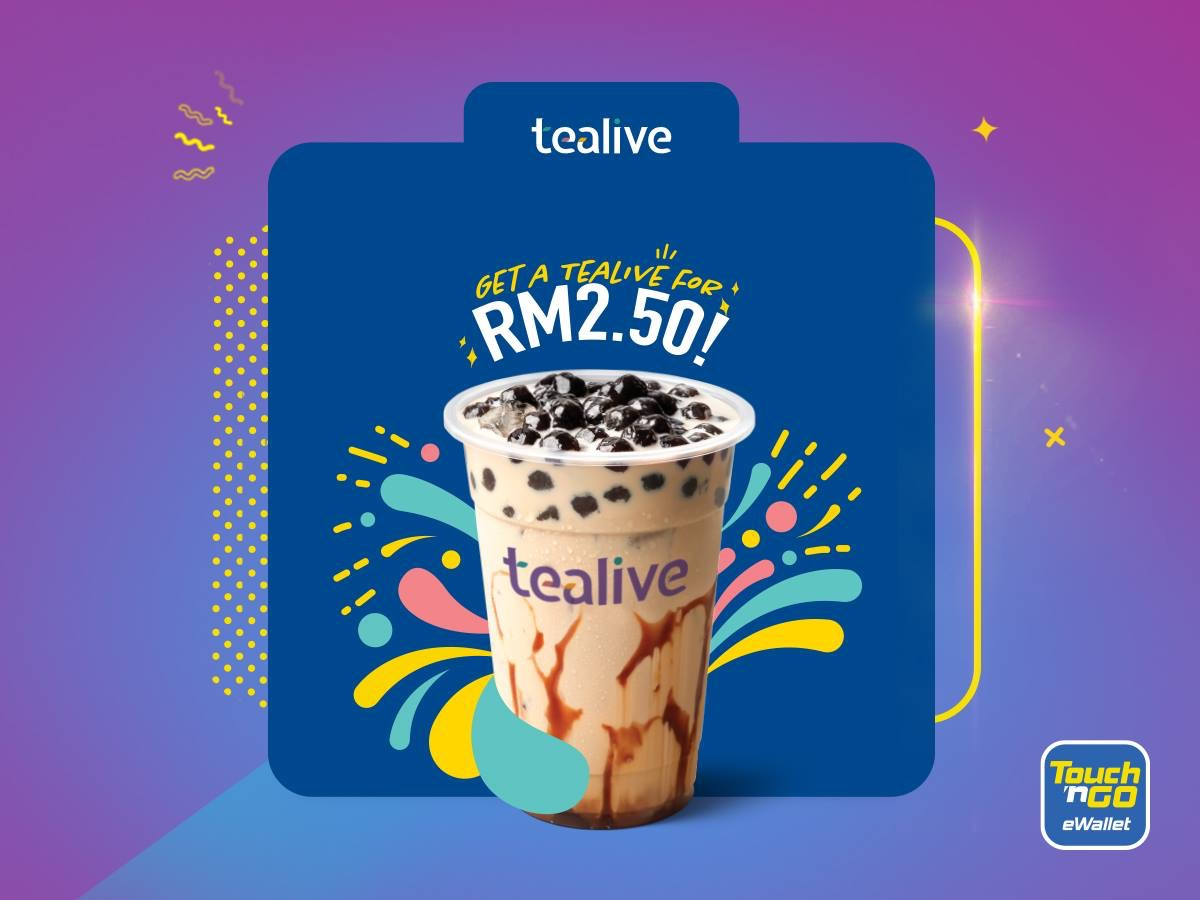 Tealive Drink for ONLY RM2.50 Deal! Tealive 奶茶仅RM2.50而已!