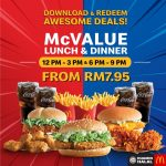 McDonald's McValue Lunch & Dinner From RM7.95! 麦当劳特优惠,价格最低RM7.95起!