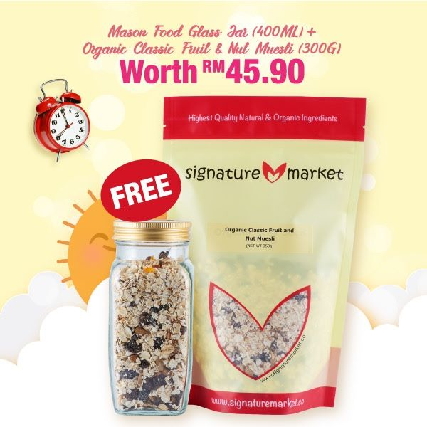 FREE Mason Glass Jar + Fruits & Nuts Muesli!