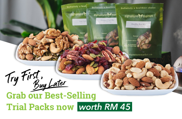 FREE 3 Best Seller Packs - Omega-3 Trail Mix, Healthy Nut Mix, Low Carb Mix