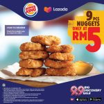 Burger King 9pcs Nugget at ONLY RM 5! Burger King 9片鸡肉块,只要RM5!