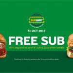 Subway Buy 1 FREE 1 Promo! Subway 三明治买一送一优惠!