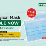 Watsons 3 ply Surgical Mask 5's Are Now Available @ Selected Store Only RM 7.50 per pack! 口罩有货了!