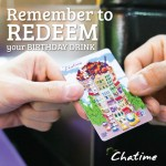 Redeem your Birthday Drink at Chatime!
