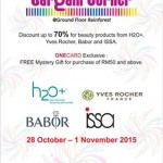 Beauty Products H2O+, Yves Rocher France, Babor, issa discount up to 70% off promotion!