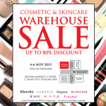 Cosmetic & Skincare Warehouse Sale 2015 is back!