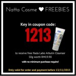 FREE Hada Labo Arbutin Whitening Cleanser 50g worth RM19.90 Giveaway!