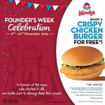 FREE Wendy's Crispy Chicken Burger Giveaway!