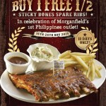 Morganfield's Buy 1 FREE Half Sticky Bones Spare Ribs Giveaway!