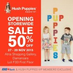Hush Puppies opening storewide sale 50%off!