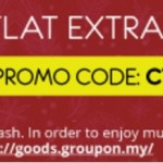 Groupon flat EXTRA 11%off for all goods!