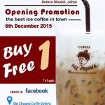 Doi Chaang Coffee Buy 1 FREE 1 promotion!