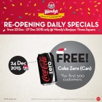Wendy's FREE Coke Zero Can Giveaway!