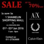 Armani Exchange, Fred Perry & Calvin Klein discount up to 70%off!
