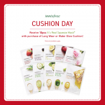 FREE 10 pieces of Innisfree It's Real Squeeze Mask Giveaway!