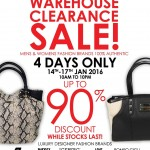 Italian Warehouse Clearance Sale is coming soon!