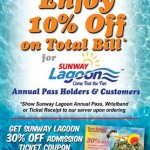 FREE Sunway Lagoon 30% OFF Admission Ticket Coupon Giveaway!