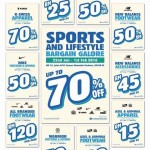 Sports and Lifestyle Bargain Galore is here!