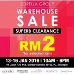 Sorella Lingerie Warehouse Clearance Sale from RM2!