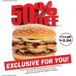 A&W Most Wanted Golden Burger 50% off Promotion!