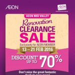 AEON Mid Valley Renovation Sale is happening Now Save Up To 70%off!