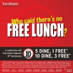 FREE TONY ROMA'S Lunch Deal Giveaway!