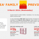 IKEA Malaysia Family Sale Preview & FREE Breakfast!