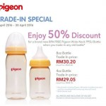 Pigeaon Offer 50% Discount for a Brand New BPA free Pigeon Wide-Neck PPSU Bottle!