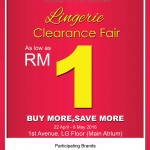 Lingerie Clearance Fair As Low As RM1 Only!