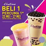 Chatime Buy 1 FREE 1 Promotion!