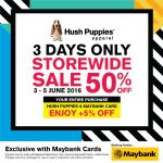 Hush Puppies Apparel Storewide 50%off Promotion!