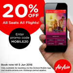 AirAsia Offer 20%off on All Seats All Flights Promo!