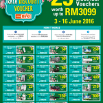 MyAEON Big Raya Discount Voucher at only RM29 worth up to RM3099 for 20 Electical vouchers!