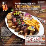 FREE TONY ROMA'S RM20off on Beef 10 Platter Giveaway!