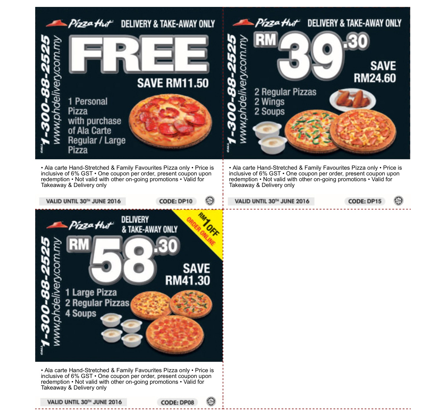 how to redeem free pizza code pizza hut