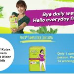 FREE 7 pieces of Kotex Fresh Liners Longer and Wider Daun Sirih Sample Pack Giveaway to Your Doorstep!