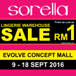 Sorella Lingerie Warehouse Clearance Sale, Price As Low As RM1 only!