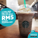 Ice Cold Starbucks Frappuccino at RM5 only!