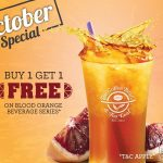 The Coffee Bean & Tea Leaf is offering Buy 1 FREE 1 Promo!