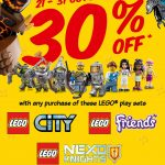 LEGO Certified Store Offer 30%off Promo!